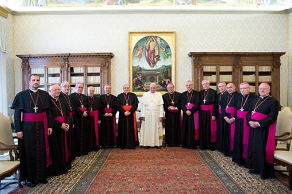 El papa Francesc ha rebut els bisbes catalans