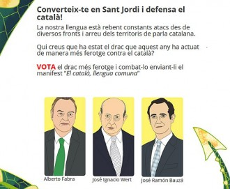 Fabra, Wert o Bauzá, els «dracs que han actuat més en contra del català»