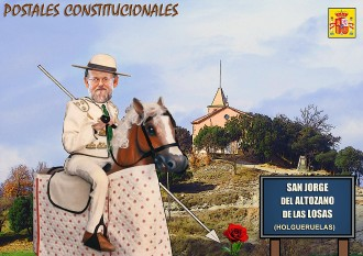 Estampa constitucional de Sant Jordi de Puigseslloses