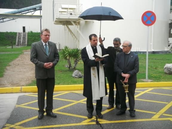 El bisbe de Solsona visita la fàbrica Knauf