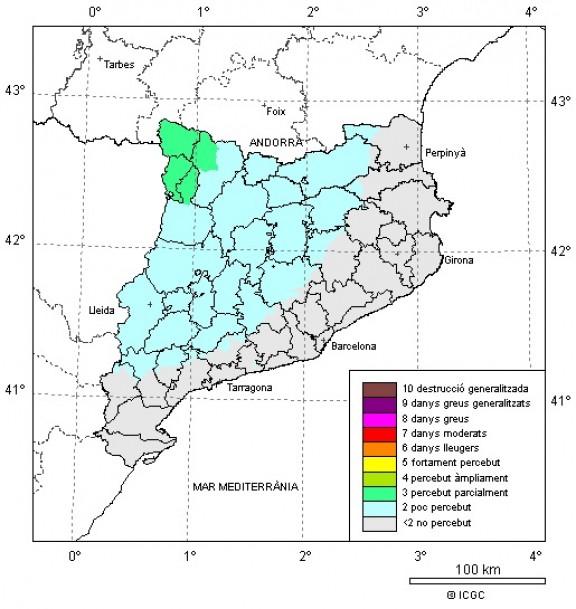 Un sisme de 4,6 graus a l'escala de Richter es deixa sentir a Catalunya sense causar danys