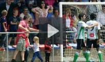 Gest racista d'una aficionada del Llagostera a un jugador del Ràcing de Santander