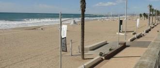 La bandera vermella oneja a platges del Vendrell i de Tarragona