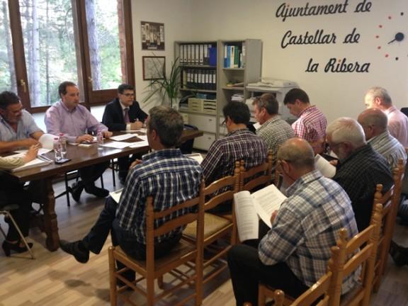 El Consell d'Alcaldes visita la nova seu de l'Ajuntament de Castellar de la Ribera
