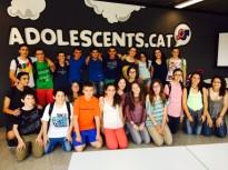 Alumnes de 2n d'ESO del Voltreganès visiten la redacció d'Adolescents.cat