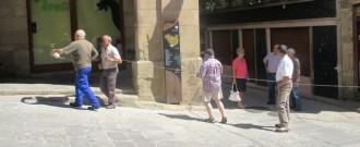 Els trabucaires prenen les mides a la Plaça Major
