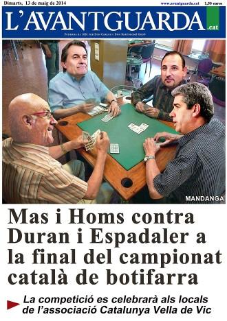 La final del campionat català de botifarra