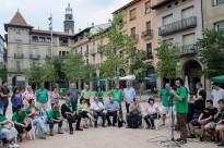 Els 57 diputats d'ERC, PSC, ICV i la CUP donen suport a la PAH a Manlleu