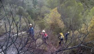 Els bombers treballen en tres focs a Benifallet, Riba-roja d'Ebre i Tivissa