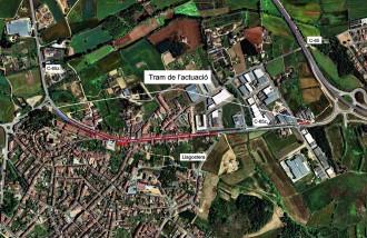 Territori arreglarà la travessera urbana de l'antiga C-65 a Llagostera