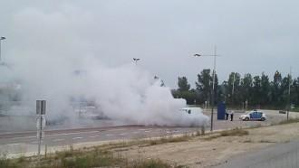 Una aparatosa avaria sorprèn els conductors de la C-17 a Malla
