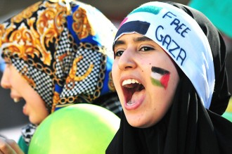 Concentració a favor de Palestina a Reus