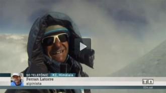 TV3 entrevista Ferran Latorre després de coronar el K2
