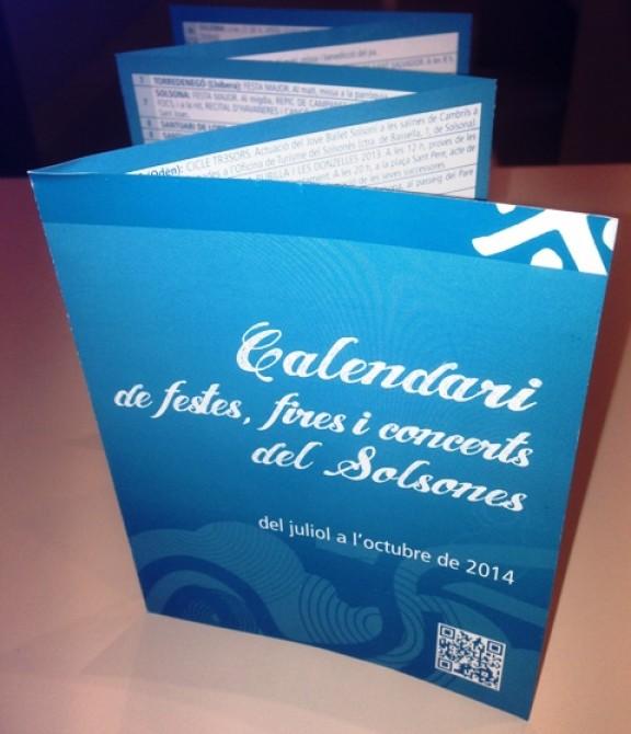 Ja es pot recollir el Calendari de festes, fires i concerts de l'estiu al Solsonès