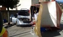 Bolca un camió al centre d'Arbúcies