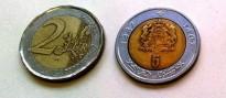 Circula una moneda semblant als dos euros