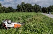 Dos cotxes surten del mateix tram de la carretera de Taradell en dos accidents diferents
