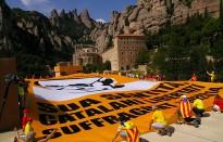 L'ANC interpel·la el Papa Francesc des de Montserrat