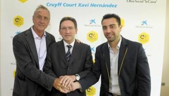 Xavi i Cruyff crearan un camp per a nens desfavorits a Terrassa