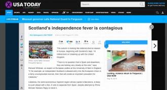 «USA Today»: Catalunya tirarà endavant la votació del 9N malgrat l'intent de bloqueig de Rajoy