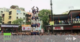 La participació dels Capgrossos al Govinda Festival, en vídeo