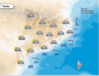 Avís de pluges intenses per aquesta tarda a la majoria de comarques