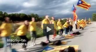 Nou vídeo de l'ANC per reforçar la V de la Diada Nacional