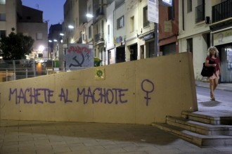 La violència masclista també deixa empremta a les parets de Terrassa