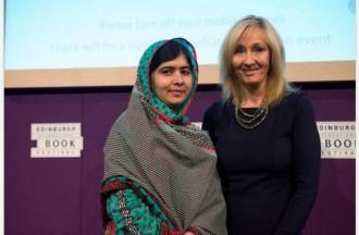 J.K.Rowling (autora de Harry Potter) i l'activista adolescent Malala es troben a Edimburg