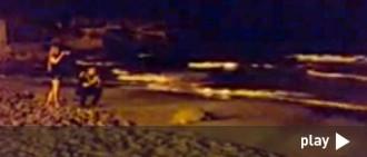 Una tortuga gegant tria la platja de l'Arrabassada per pondre els ous
