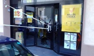 La seu de l'ANC a Granollers ha estat atacada de matinada
