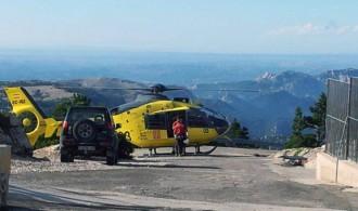 Traslladat en helicòpter un escalador després de patir una caiguda als Ports