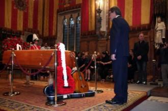 Barcelona acomiada Peret des de la capella ardent