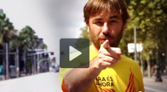 Quim Masferrer en el vídeo «L'11 de setembre, tots junts, convocarem la consulta»