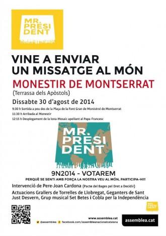 L'ANC interpel·larà el Papa Francesc des del Monestir de Montserrat