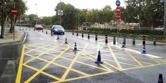 Nova senyalització a la cruïlla entre el passeig La Salle i l'avinguda Baix Camp