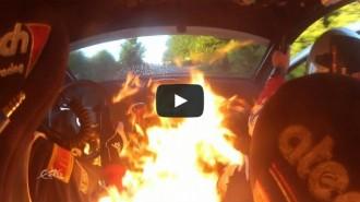 Dos pilots de ral·li s'escapen d'un cotxe en flames a Bèlgica