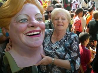 Mor Roser Arenas, la cara del capgròs de la Grossa de Cap d'Any