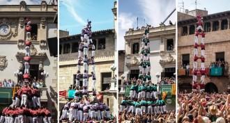 Les colles castelleres s'apunten una diada de Sant Fèlix per a la història