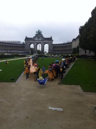 La pluja no impedeix l'assaig de Brusel·les