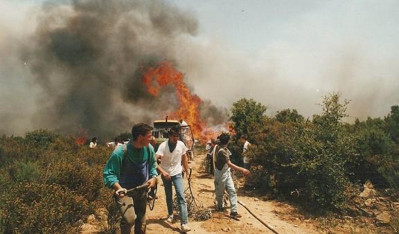 Fotos: Vint anys de l'estiu negre dels incendis forestals