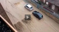 Vídeos i fotos: les fortes pluges inunden el nord d'Osona