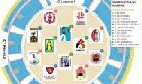 L'ordre i ubicació de les 41 colles que participaran al Concurs