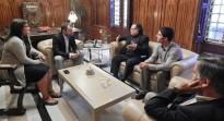 Reunió del Col·legi d'Aparelladors amb l'alcalde de Terrassa