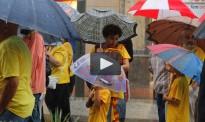 Vídeo de la concentració a Terrassa en defensa de la consulta
