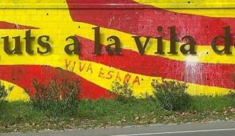 Nou i peculiar atac al mural independentista de Cardedeu