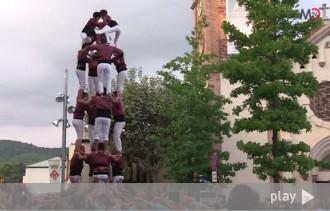 El vídeo de l'actuació castellera de la Festa Major de Matadepera
