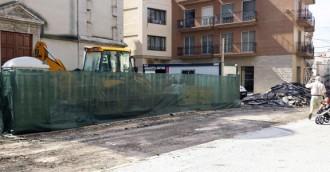 Les restes arqueològiques de la plaça de l'ajuntament d'Amposta es taparan