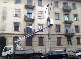 Ensurt a la carretera de Barcelona de Ripoll per un curtcircuit en un quadre elèctric