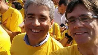Carles Puigdemont, al vèrtex de la V de la Diada